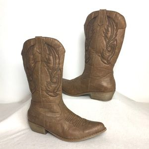 Coconuts 10 Gaucho Country Cowgirl Cowboy Boots